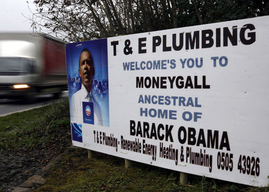 Obama moneygall plumbing